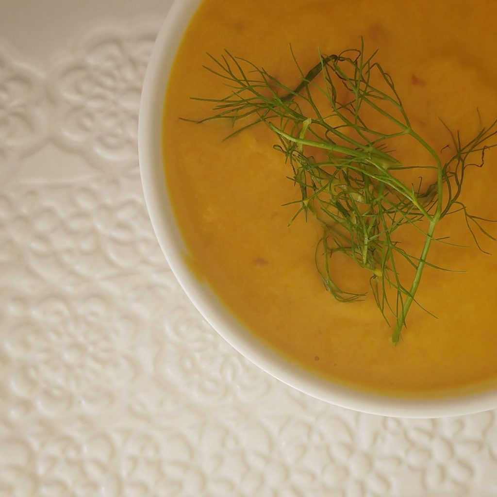 Carrot, Fennel and Apple Soup