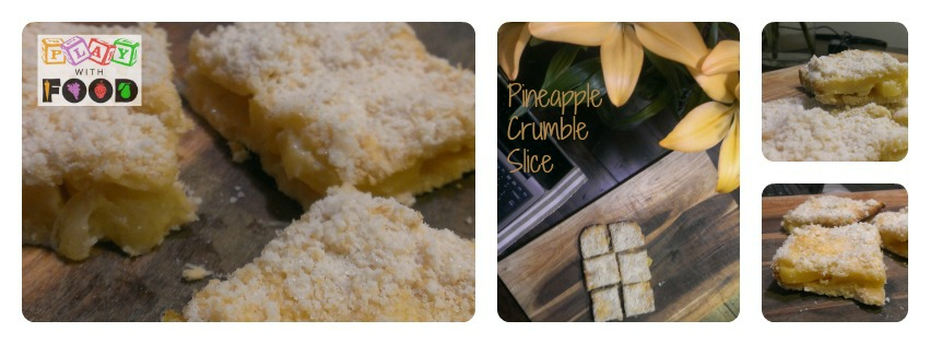 Pineapple Crumble Slice | Play with Food