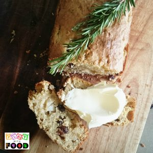 Pear Sultana Rosemary Cake by Play with Food - Italian inspired cake perfect for Afternoon Tea