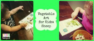 Play with Food: Vegetable Art: Sheep