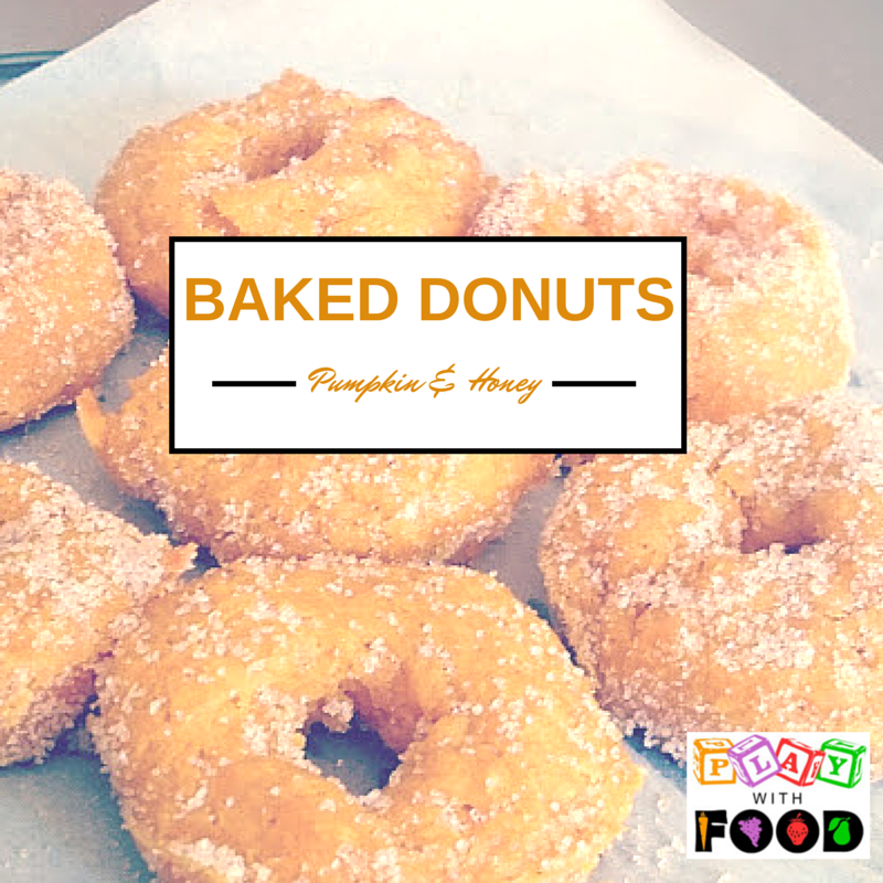 Baked Pumpkin and Honey Donuts
