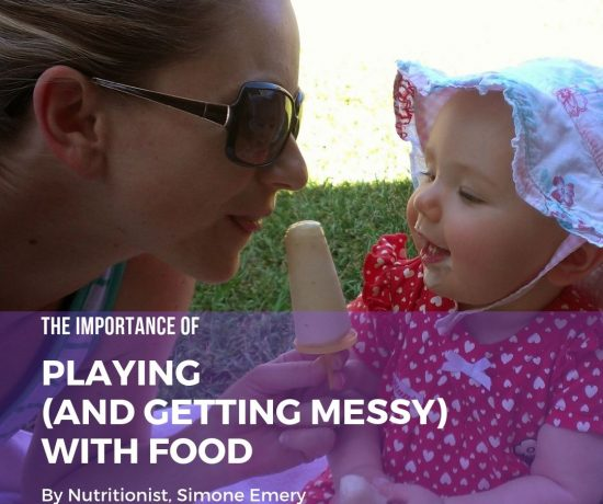 The importance of playing AND getting messy with food