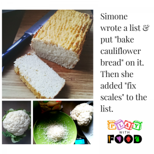Cauliflower Bread and Lists by Play with Food
