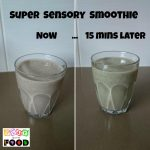 Super Sensory Smoothie by Play with Food #spinace #raspberry #chia