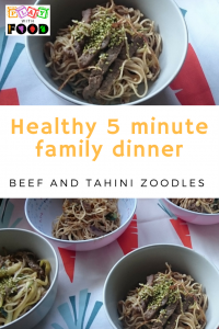 Healthy 5 Minute Beef and Tahini Zucchini Noodles | Simone Emery | Play with Food