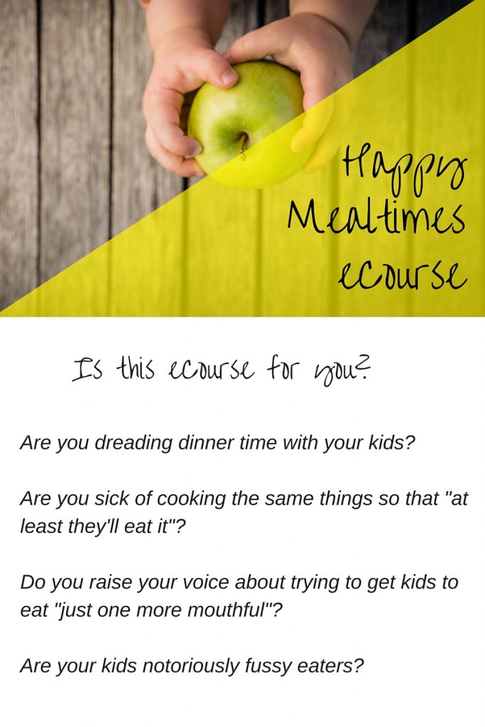 The benefits of the Happy Mealtimes eCourse