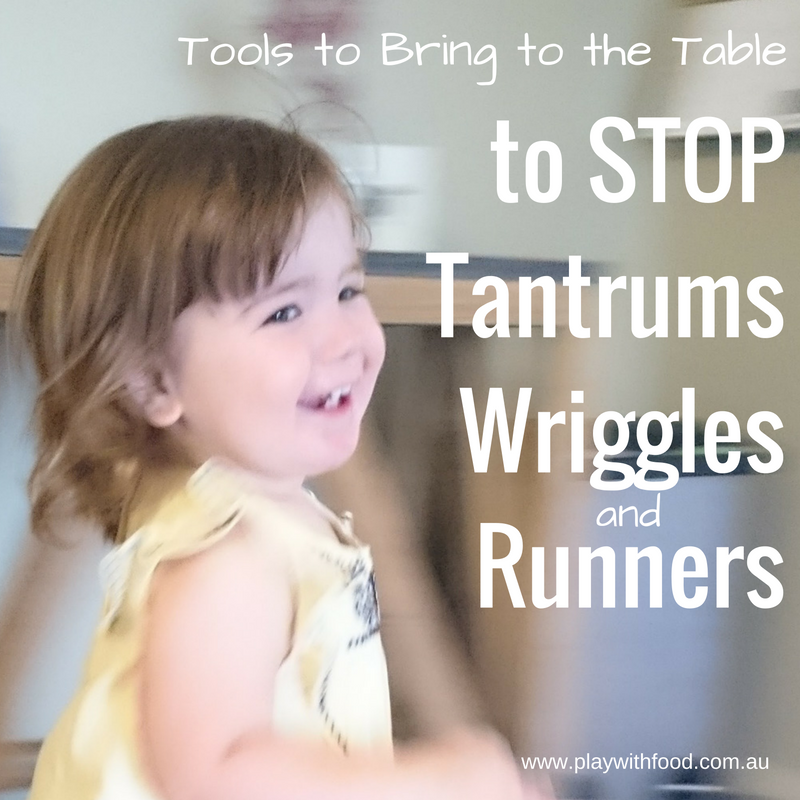 Tools for mealtimes to stop tantrums, wriggles and runners by Simone Emery | Play with Food