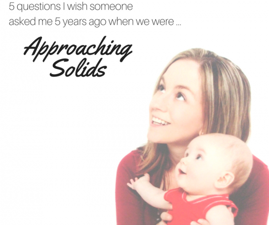 5 considerations for when you are approaching solids with babies by Play with Food (Simone Emery)