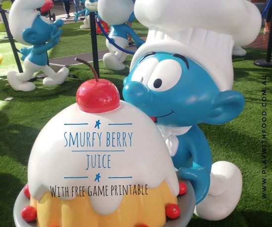 Smurfy Berry Juice and Free Printable Game Card - Perfect to Entertain the Kids | Play with Food by Simone Emery