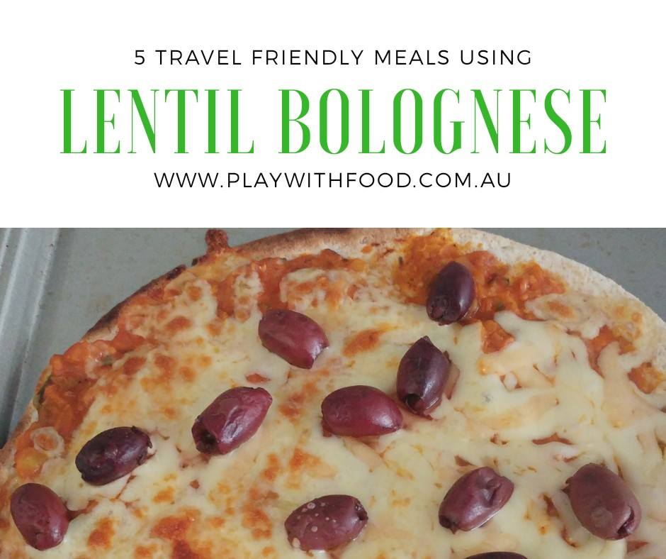 5 Travel Friendly Meal Hacks with Lentil Bolognese