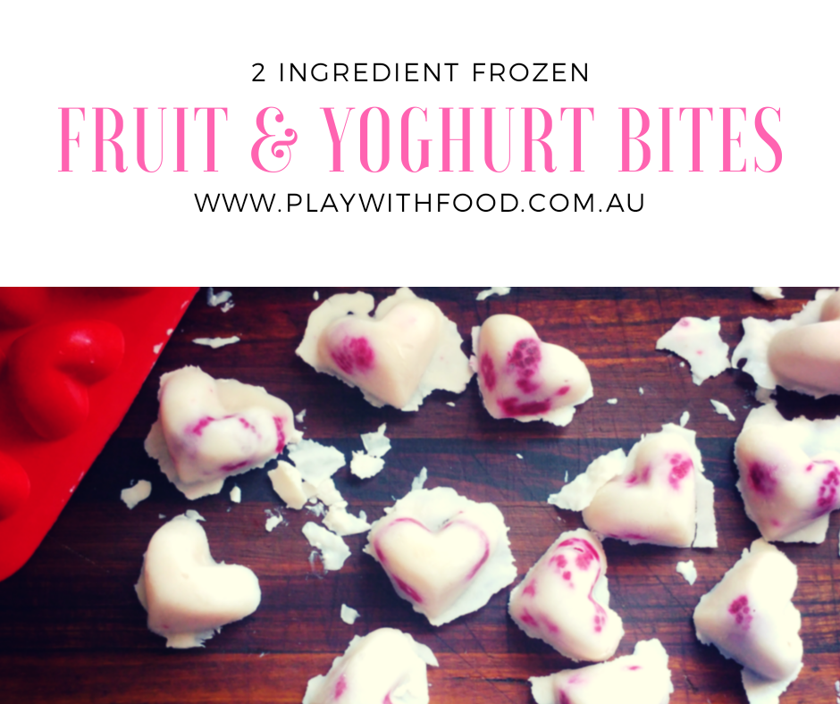 Frozen Fruit and Yoghurt Bites for Kids - 2 Ingredients!