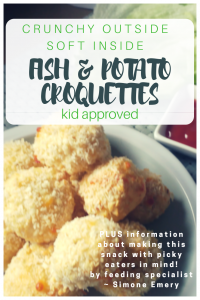 Fish and Potato croquettes that kids love to make!