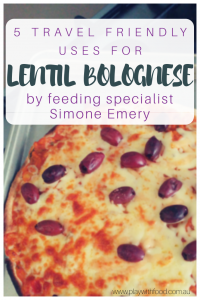 5 ways to serve up lentil Bolognese that are simple, family friendly and travel friendly by Simone Emery