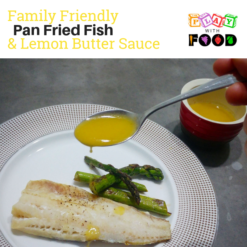 "Fish in Lemon Butter Sauce with Asparagus {Helping Kids with ""Big Smell"" Foods}"