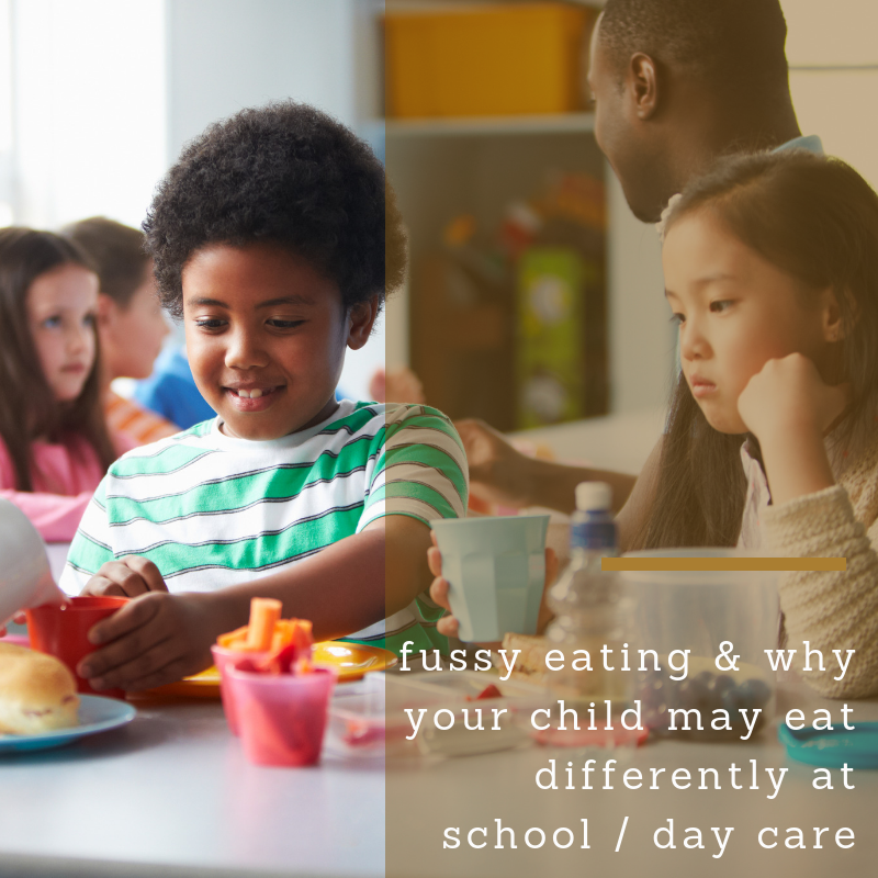 """Why does my fussy eater eat better at day care / school?"""