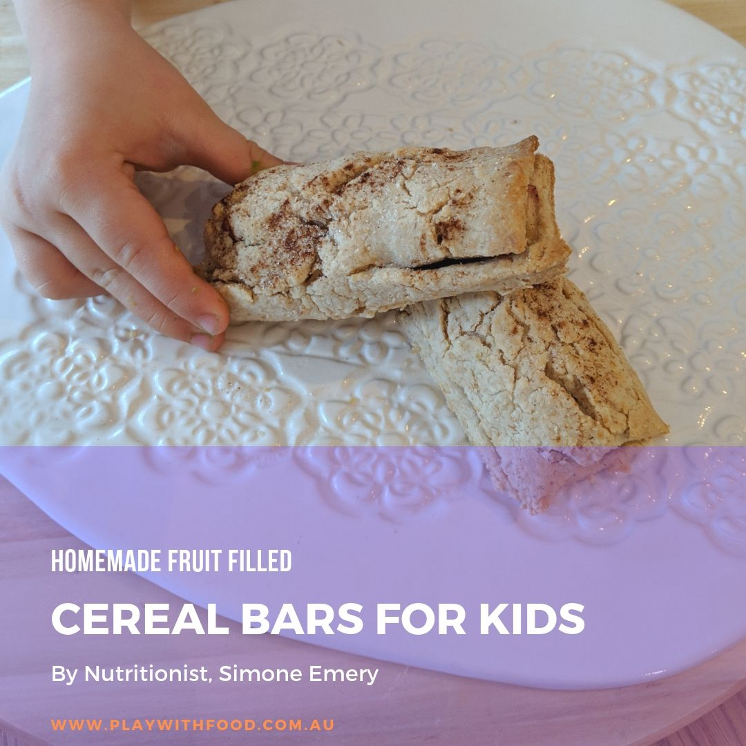 Homemade Fruit Filled Cereal Bars for Kids